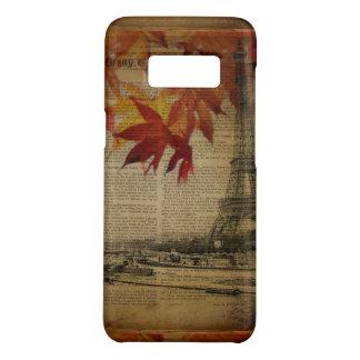 Funda De Case-Mate Para Samsung Galaxy S8 la caída deja la torre Eiffel de París del otoño