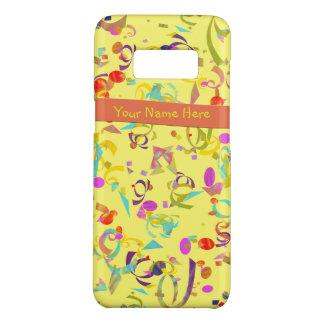 Funda De Case-Mate Para Samsung Galaxy S8 Lanzamiento colorido del confeti sobre amarillo