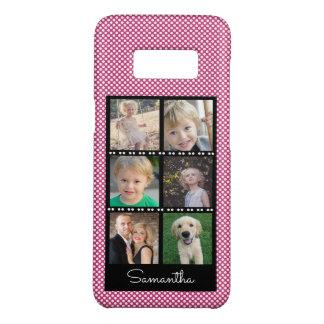 Funda De Case-Mate Para Samsung Galaxy S8 Los puntos rosados y blancos del collage de la