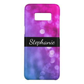 Funda De Case-Mate Para Samsung Galaxy S8 Luces púrpuras, azules brillantes de Bokeh con