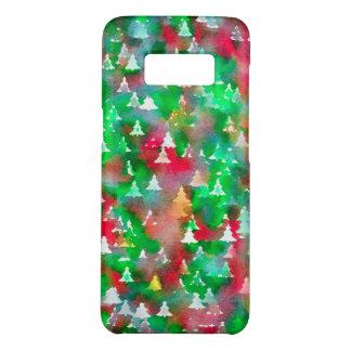 Funda De Case-Mate Para Samsung Galaxy S8 Modelo de la acuarela del árbol de navidad
