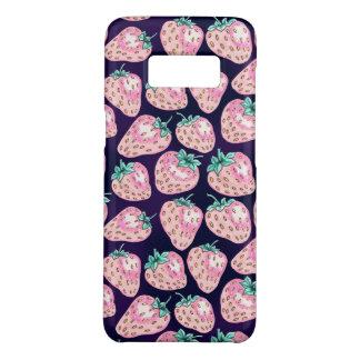 Funda De Case-Mate Para Samsung Galaxy S8 Modelo rosado de la fresa en fondo púrpura