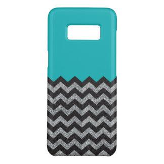 Funda De Case-Mate Para Samsung Galaxy S8 Negro y caso de Chevron Samsung del brillo de la