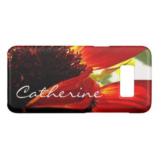 Funda De Case-Mate Para Samsung Galaxy S8 Nombre amarillo rojo moderno del personalizado de
