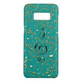 Funda De Case-Mate Para Samsung Galaxy S8 Notas y Clefs de la música del oro y del trullo