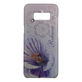 Funda De Case-Mate Para Samsung Galaxy S8 orquídea púrpura de los remolinos elegantes floral