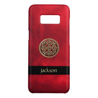 Funda De Case-Mate Para Samsung Galaxy S8 Personalice el nudo de cuero rojo del Celtic de la
