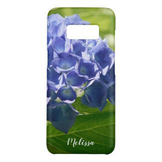Funda De Case-Mate Para Samsung Galaxy S8 Personalizado floral del Hydrangea azul