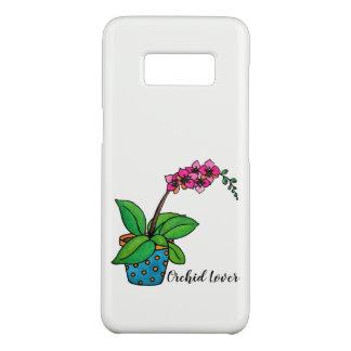 Funda De Case-Mate Para Samsung Galaxy S8 Planta de la orquídea de la acuarela en pote