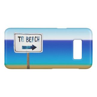 Funda De Case-Mate Para Samsung Galaxy S8 Poste de muestra de la playa