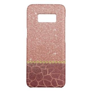 Funda De Case-Mate Para Samsung Galaxy S8 Purpurina del oro y estampado de animales color de
