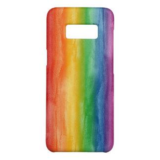 Funda De Case-Mate Para Samsung Galaxy S8 Rayas del arco iris de la acuarela