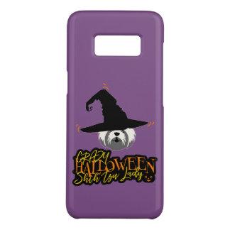 Funda De Case-Mate Para Samsung Galaxy S8 Señora loca Shih Tzu Mom de Halloween Shih Tzu