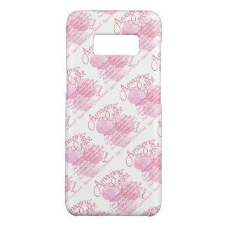 Funda De Case-Mate Para Samsung Galaxy S8 Tipografía color de rosa rosada hermosa de la