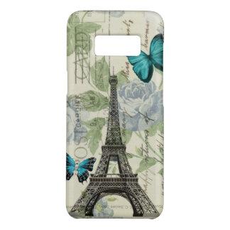 Funda De Case-Mate Para Samsung Galaxy S8 torre Eiffel floral elegante lamentable de París