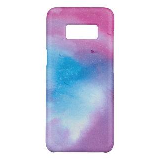 Funda De Case-Mate Para Samsung Galaxy S8 Watercolour de mármol rosado y azul