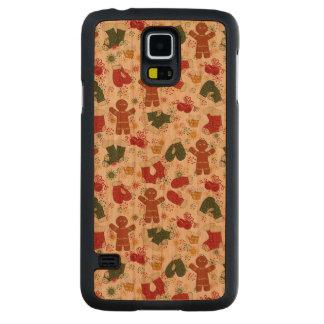 Funda De Cerezo Para Galaxy S5 De Carved Modelo del pan de jengibre del día de fiesta