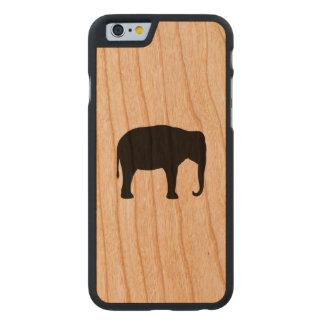 Funda De Cerezo Para iPhone 6 De Carved Silueta del elefante asiático