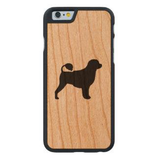 Funda De Cerezo Para iPhone 6 De Carved Silueta portuguesa del perro de agua