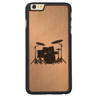 Funda De Cerezo Para iPhone 6 Plus De Carved Diseño determinado de la música del tambor