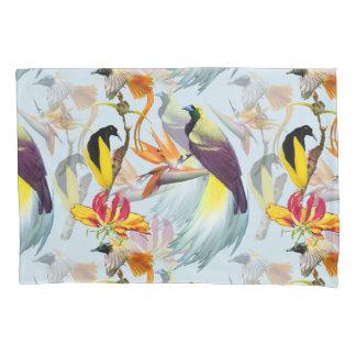 Funda De Cojín Acuarela exótica de las aves del paraíso y de las