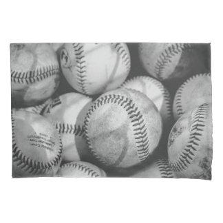 Funda De Cojín Béisboles en blanco y negro
