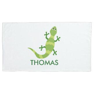 Funda De Cojín Caja de la almohada del camaleón personalizada con