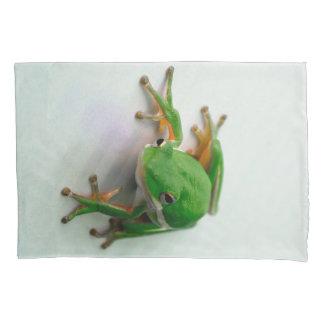 Funda De Cojín Cajas verdes de la almohada de la rana arbórea