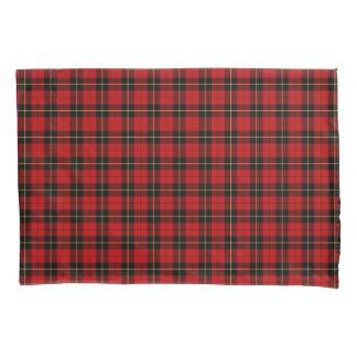 Funda De Cojín Clan tela escocesa escocesa roja y negra de