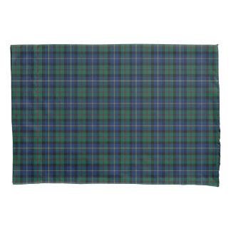 Funda De Cojín Clan tela escocesa escocesa verde y azul de