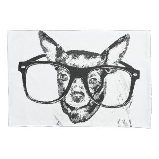 Funda De Cojín Dibujo del ejemplo del perro de la chihuahua