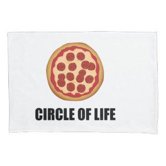 Funda De Cojín El círculo de la pizza de la vida