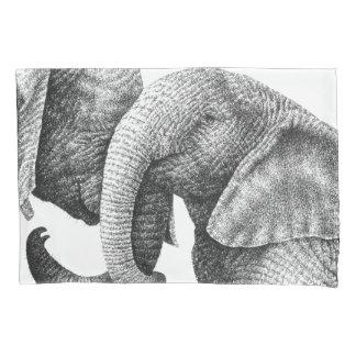 Funda De Cojín Elefantes africanos jovenes