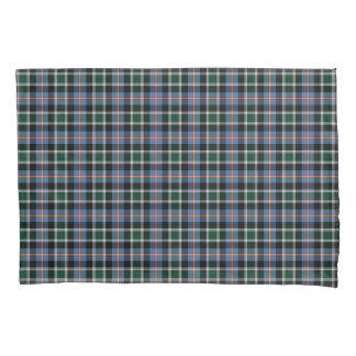Funda De Cojín Estado de la tela escocesa azul y negra del tartán