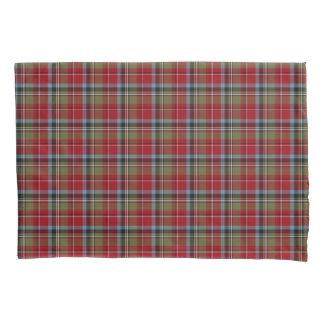 Funda De Cojín Estado de la tela escocesa colorida del tartán de