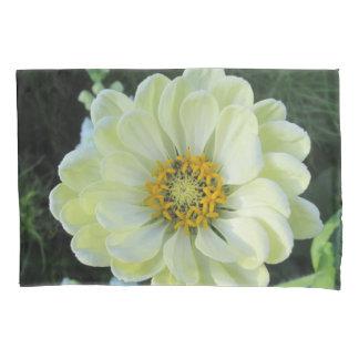 Funda De Cojín Flor amarilla clara de la dalia