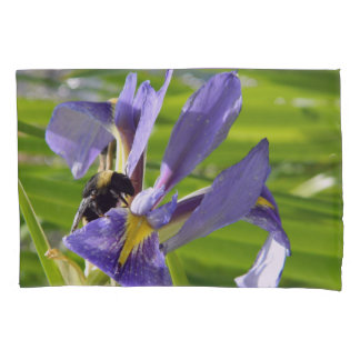 Funda De Cojín Iris púrpura en las cajas de la almohada