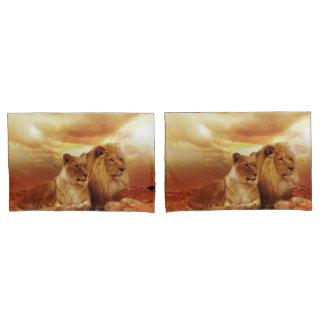 Funda De Cojín León y leona