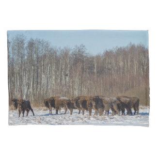 Funda De Cojín Manada del bisonte