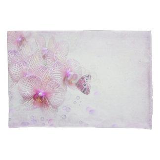 Funda De Cojín mariposa en orquídea rosada con las burbujas