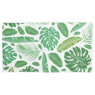 Funda De Cojín Modelo verde tropical de las hojas