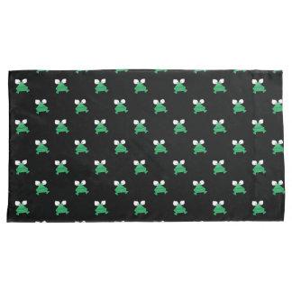 Funda De Cojín Ranas verdes en las cajas negras de la almohada