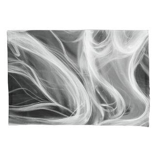 Funda De Cojín remolino abstracto blanco del humo