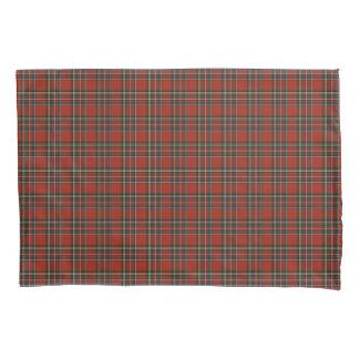 Funda De Cojín Tela escocesa real roja y azul del escocés de