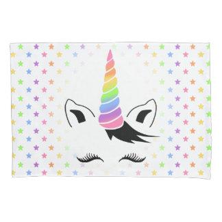 Funda De Cojín Unicornio en colores pastel bonito