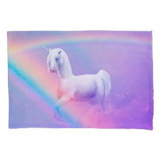 Funda De Cojín Unicornio y arco iris