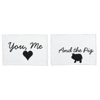Funda De Cojín Usted, yo y el cerdo