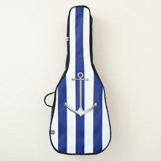 Funda De Guitarra Ancla del cromo en la impresión náutica de las