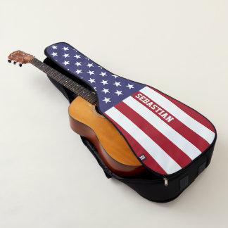 Funda De Guitarra Bandera americana de los E.E.U.U. personalizada