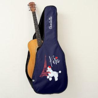 Funda De Guitarra Caniche francés de París del amor personalizado